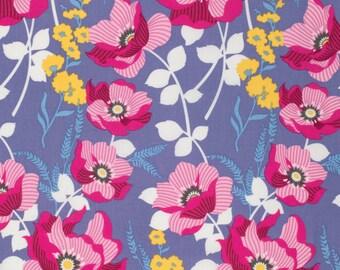 HALF YARD - Joel Dewberry Fabric, Atrium, Monarch Fuchsia, Floral, cotton quilting fabric