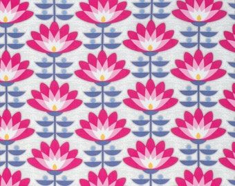 HALF YARD - Joel Dewberry Fabric, Atrium, Deco Bloom, Fuchsia, Floral, cotton quilting fabric