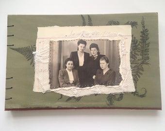 Handbound Notebook - green ferns