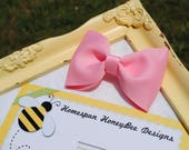Toddler Hair Clip - 3.5 Inch Large Tuxedo Bow - Cute Hair Clip - YOU PICK Color - Handmade in USA - Simple Hairbow - Preppy Bow - Bowtie Bow