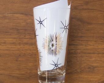 Federal Glass - Black and Gold Atomic Starburst Tumbler