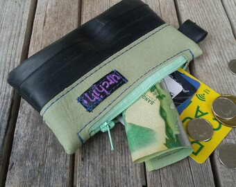 Eco friendly mini change purse made from bicycle inner tube - coin purse - bike tube - recycled bag