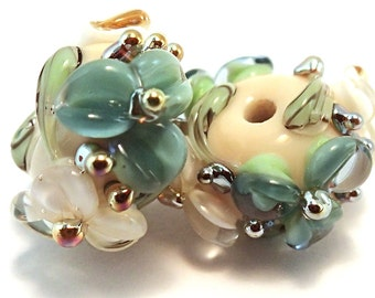 Gilded Seafoam Ivory Spacers