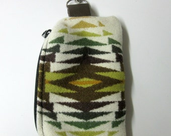 Wool Belt Loop Zippered Pouch Hip Bag Accessory Essentials Case Blanket Wool from Pendleton Oregon