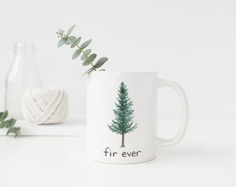 Douglas Fir Mug / Ceramic Mug / Oregon Mug / Evergreen Tree Mug / Pacific Northwest Mug / Cascadia Mug / Oregon Gifts / Portland Gifts / Fir