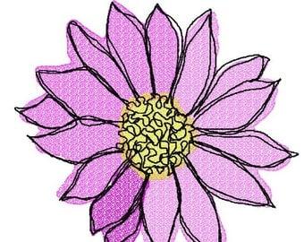 Open Flower  Machine Embroidery Design by Letzrock  3109