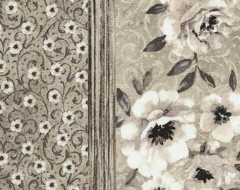 Shadow Chic -Poppy Stripe -Oyster -Gray  -Timeless Treasures -Quilt Fabric -By the yard- By the half yard -by Michele D'Amore.