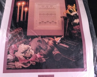 Vintage Shepherd's Bush Printworks Simple Threads Embroidery Kit with Pattern and Supplies