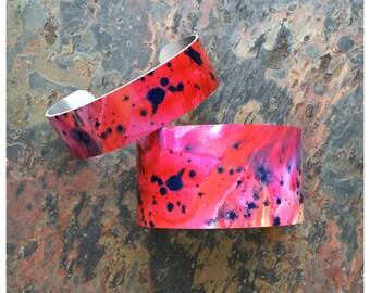 Lava Flowers Cuff Bracelet / Metal / Art Cuff / Aluminum / Jewelry