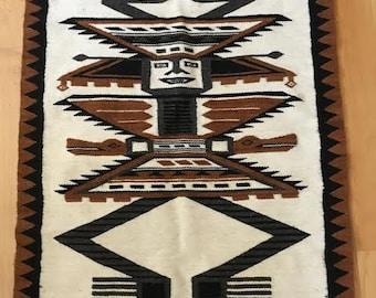 Ecuador Souvenir Wool Rug / Wall Hanging