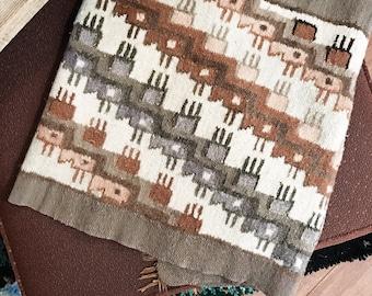Peruvian Wool Rug - runner, reversible, fringe