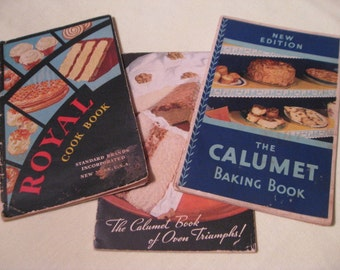 1940s CALUMET and ROYAL Baking Powder COOKBOOK Collection