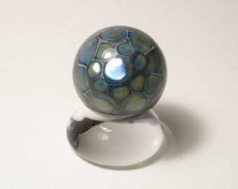 EMBLEM Lampworked Borosilicate Glass Marble