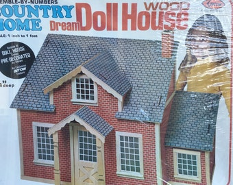 SALE Two Story Dollhouse Kit in Original Box 1980 Vintage Build One to One Scale