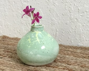 Ceramic Bud Vase - Stoneware - Wheel Thrown Pottery - Pottery Bud Vase