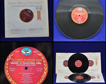 Tennessee Ernie Ford Treasury of Inspirational Songs - Boxed Set of Six Longines Symphonette Gold Medal High Fidelity Recordings c. 1968