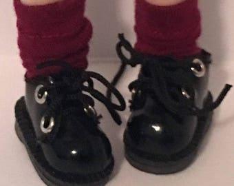 Short Burgundy socks...For Blythe...
