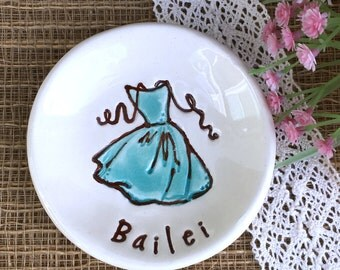 Personalized Bridesmaid Gift Ring Dish - Bridesmaid Jewelry Dish
