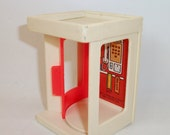 Vintage Fisher Price Phone Booth #997 Play Family Village Little People Toy