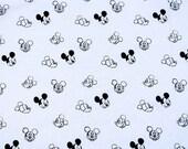 4484 - Mickey Cotton Fabric - 55 Inch (Width) x 1/2 Yard (Length)