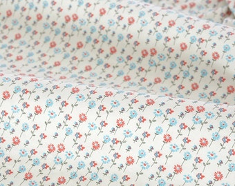 4401 - Flower Cotton Lycra Jersey Knit Fabric - 70 Inch (Width) x 1/2 Yard (Length)