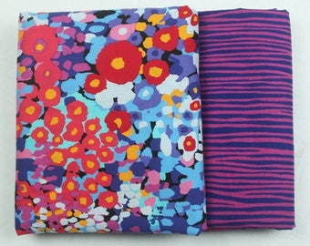 4294 - Colorful Dot & Line Cotton Fabric - 59 Inch (Width) x 1/2 Yard (Length)