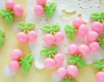 SALE 8 pcs Cherry Cabochon (17mm18mm) Light Pink FR082 (((LAST)))