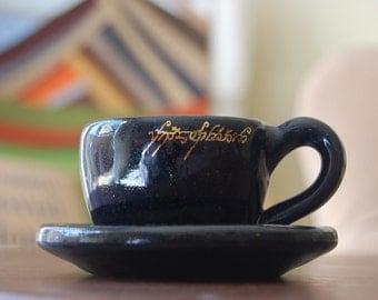 Mini Elvish Pottery Teacup and Saucer