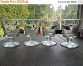 Spring Sale Vintage Aviation Cocktail Glasses, set of 4