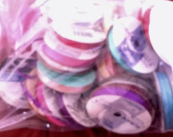 Assorted Colors Ribbon 2 lbs Bag assorted width and Lengths