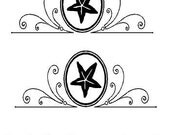 """Custom BLACK decals -   name is 12"""" x 1.5"""" Tall    //  the other 2 decals are 10"""" X 4"""" each ( SHIP TODAY)"""