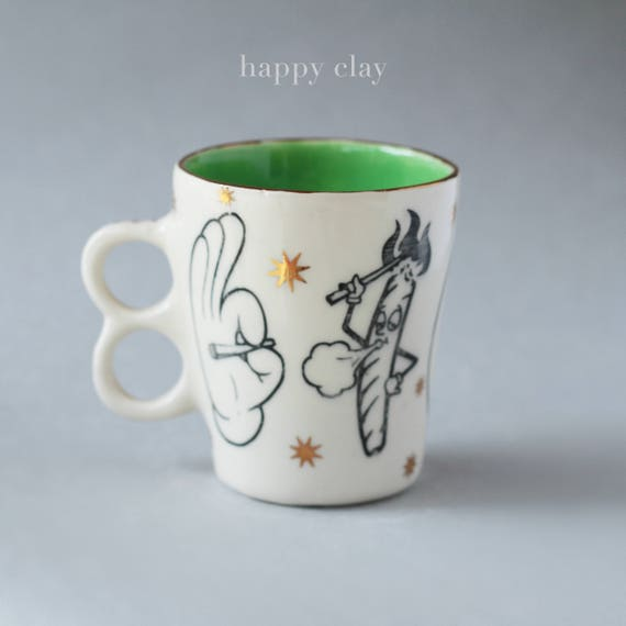 Spliffy handmade mug