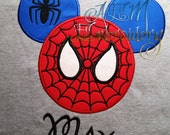 Personalized Spiderman Mousehead Short Sleeved Shirt