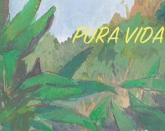 tropical greeting card / jungle cards / pura vida / blank greeting cards