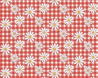 Gingham  Girls, By Amy Smart  Daisy Red C5901-Red