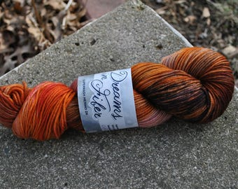 Superwash Merino DK - Orange Spice Colorway