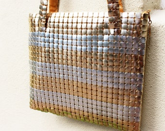 VINTAGE Le Regale gold and silver chain, mesh shoulder bag. Gala, glamour girl