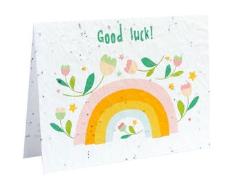 Seeded paper greeting card - Good luck