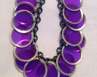Purple BINGO CHIP Bracelet