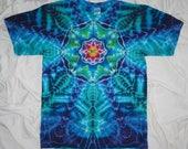 tye dye shirt, large mandala tie dye, gildan ultra cotton tee, tie dye t shirt by GratefulDan, mandala shirt, mandala tye dye