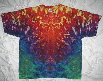 Give your eyes a treat, tie dye, 3XL ice dye, tie dyed tshirt by grateful dan dyes, trippy tie dye, psychedelic rorschach inkblot test