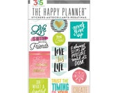 Mambi Create 365 Life Quotes Stickers - The Happy Planner, Diary, Craft, Plan, Tasks, Daily, Motivate, Inspire 5 Sheets