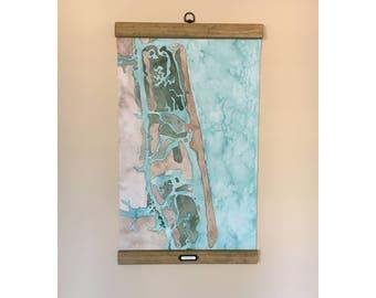 Wrightsville Beach, NC Coastal Art Map