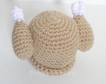Turkey Hat Baby Thanksgiving Christmas Dinner Newborn Chicken Beanie