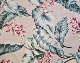 Vintage Cotton Retro Hawaiian Print Yardage by GVH Hawaii Print