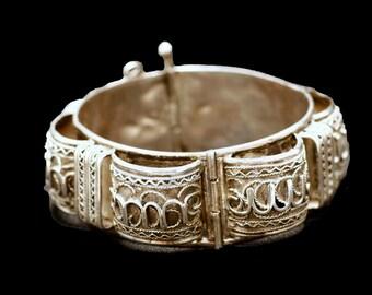 Vintage Silver Bracelet - Morocco