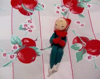 adorable felt elf doll ornament