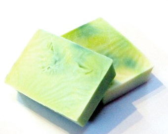 Ginger Lime scented soap bar - 5.25 ounces - detergent free, vegan soap bar