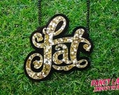 Gold Glitter Acrylic Fat Necklace