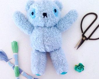 Mini Plush Blue Bear